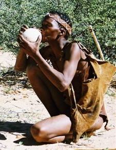 One of the San people of South Africa.