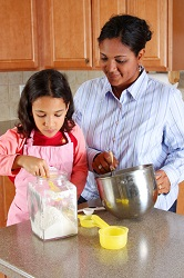 South African recipes - mother and daughter cooking