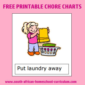 photo relating to Free Printable Chore List named No cost Printable Chore Charts - www.south-african-homeschool