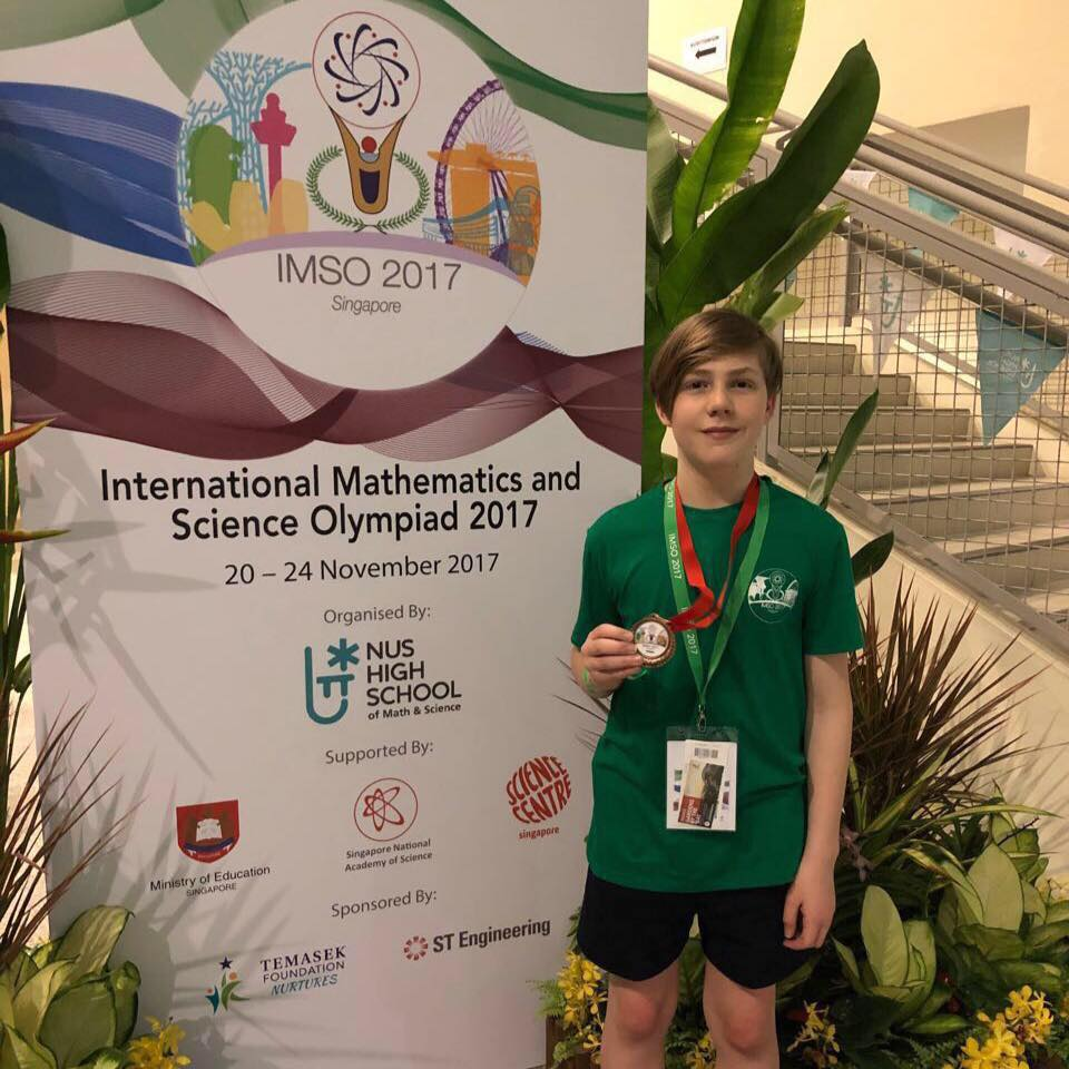 Homeschooler At International Maths And Science Olympiad Wwwsouth
